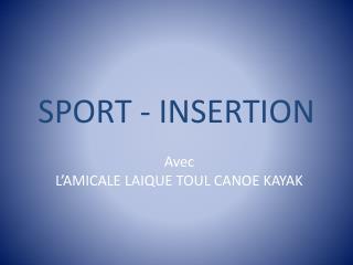 SPORT - INSERTION