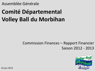 Assemblée Générale Comité Départemental  Volley Ball du Morbihan