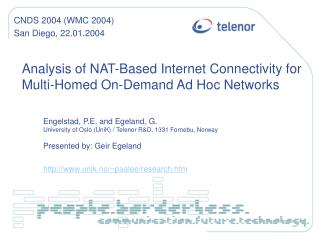 Analysis of NAT-Based Internet Connectivity for Multi-Homed On-Demand Ad Hoc Networks