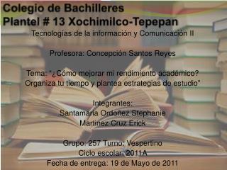Colegio de Bachilleres Plantel # 13 Xochimilco-Tepepan