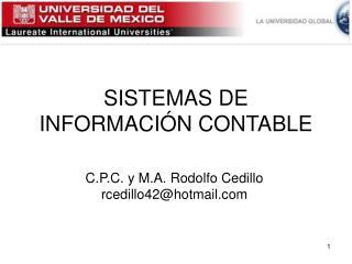 SISTEMAS DE INFORMACI�N CONTABLE