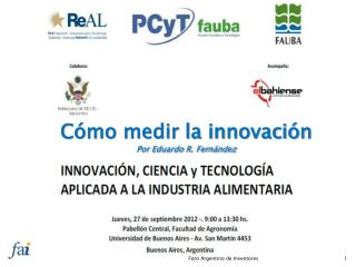 Cómo medir la innovación Por Eduardo R. Fernández