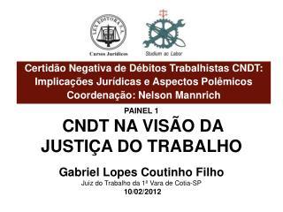 Certidão  Negativa de Débitos  Trabalhistas CNDT :  Implicações  Jurídicas  e Aspectos Polêmicos