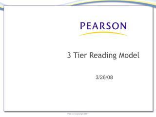 3 Tier Reading Model