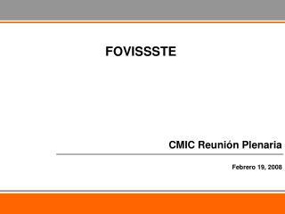 CMIC Reuni�n Plenaria Febrero 19, 2008