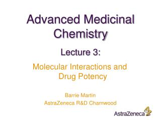 Advanced Medicinal Chemistry