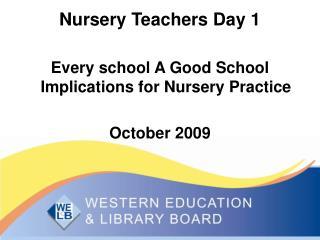 Nursery Teachers Day 1