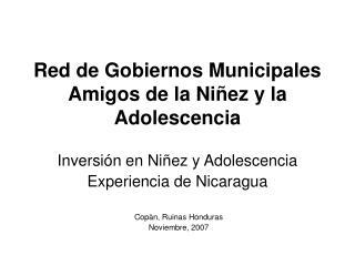 Red de Gobiernos Municipales Amigos de la Niñez y la Adolescencia