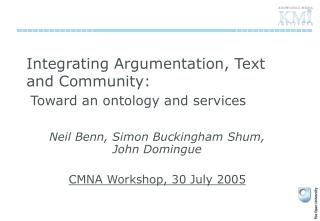 Integrating Argumentation, Text and Community: