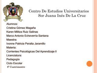 Alumnos: Cristina Gómez Magaña Karen  Militza  Ruiz Salinas Marco Antonio Echeverría Santana