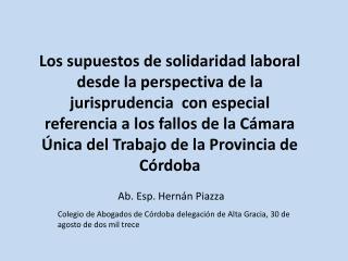 Ab. Esp. Hernán Piazza