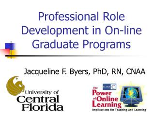 Professional Role Development in On-line Graduate Programs