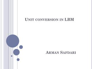 Unit conversion in LBM