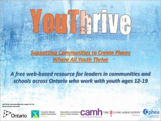 Supporting Communities to Create Places Where All Youth Thrive