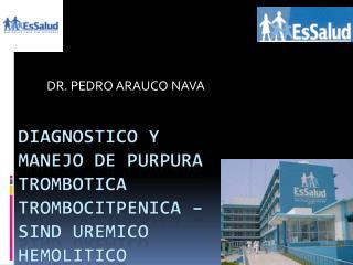 DR. PEDRO ARAUCO NAVA