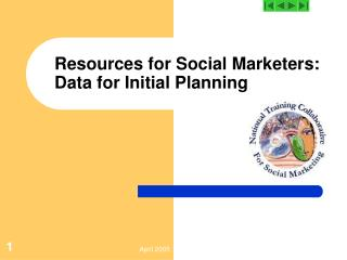 Resources for Social Marketers:  Data for Initial Planning