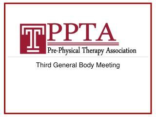 Third General Body Meeting