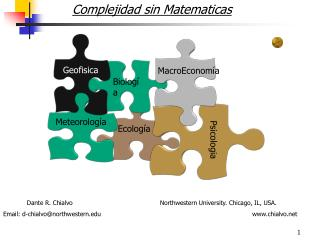 Complejidad sin Matematicas