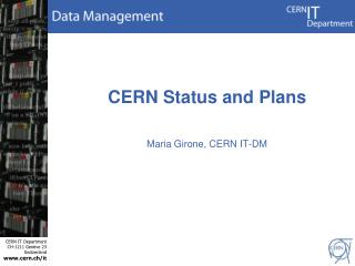 CERN Status and Plans