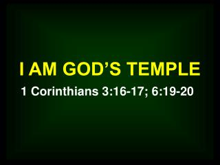 I AM GOD S TEMPLE