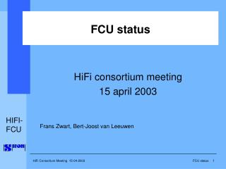 FCU status
