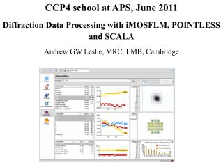 CCP4 school at APS, June 2011 Diffraction Data Processing with iMOSFLM, POINTLESS and SCALA