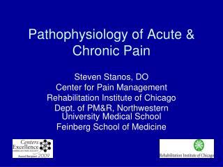 Pathophysiology of Acute & Chronic Pain