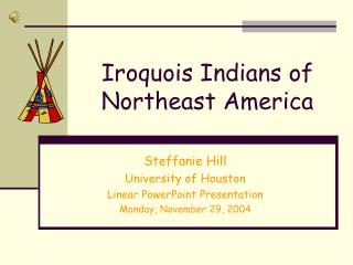 Iroquois Indians of Northeast America