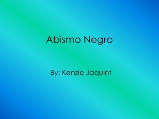 Abismo Negro