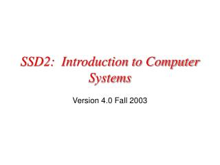 Unit 1 Computer Systems PowerPoint