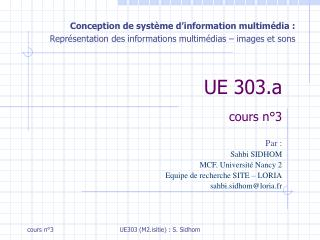 UE 303.a cours n°3