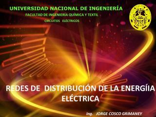 REDES DE  DISTRIBUCIÓN DE LA ENERG Í IA ELÉCTRICA