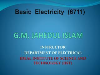 G.M . JAHEDUL ISLAM