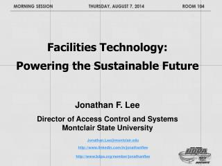 Facilities Technology:  Powering the Sustainable Future