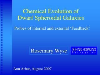 Chemical Evolution of Dwarf Spheroidal Galaxies