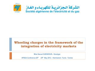 Wheeling charges in the framework of the integration of electricity markets