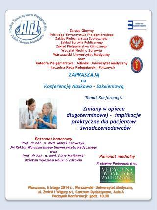 ZAPRASZAJĄ na Konferencję Naukowo – Szkoleniową