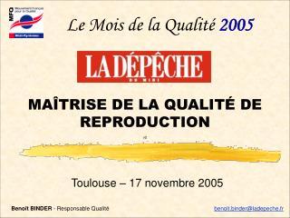 Toulouse – 17 novembre 2005