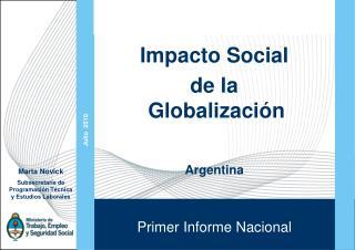 Impacto Social  de la Globalización Argentina