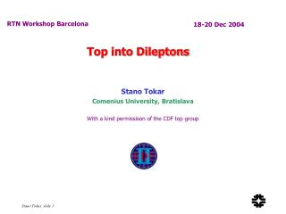 Top into Dileptons