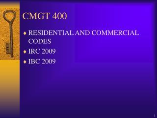 CMGT 400