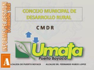 CONCEJO MUNICIPAL DE DESARROLLO RURAL