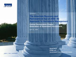 The American Recovery and Reinvestment Act of 2009: An Approach To Successful Management