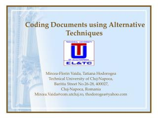 Coding Documents using Alternative Techniques