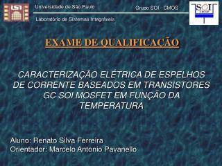 CARACTERIZAÇÃO ELÉTRICA DE ESPELHOS DE CORRENTE BASEADOS EM TRANSISTORES