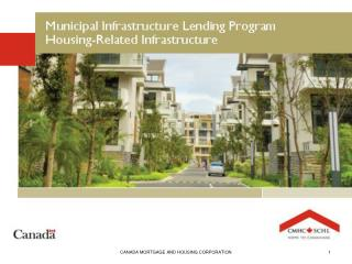 Municipal Infrastructure Lending Program Housing-Related Infrastructure