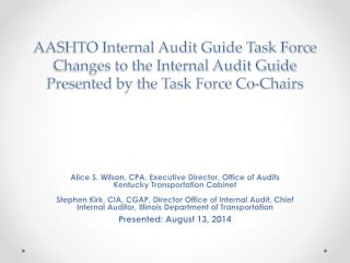 Internal Audit Guide Task Force Members