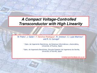 A Compact Voltage-Controlled Transconductor with High Linearity