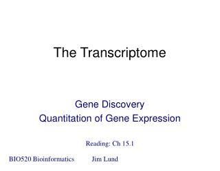 The Transcriptome