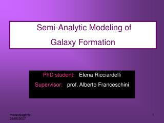 Semi-Analytic Modeling of  Galaxy Formation